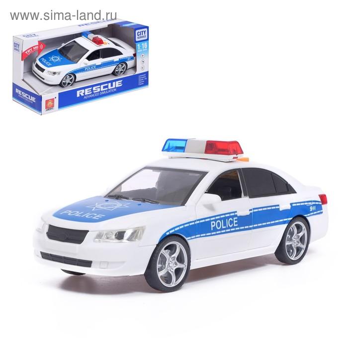 Машина инерционная «Полиция», свет и звук