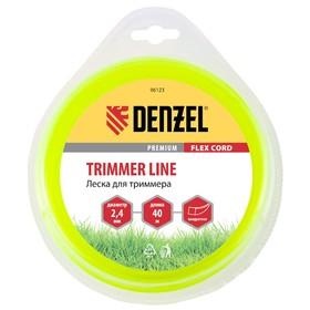 Леска для триммера Denzel 96123, 2.4 мм х 40 м, квадрат