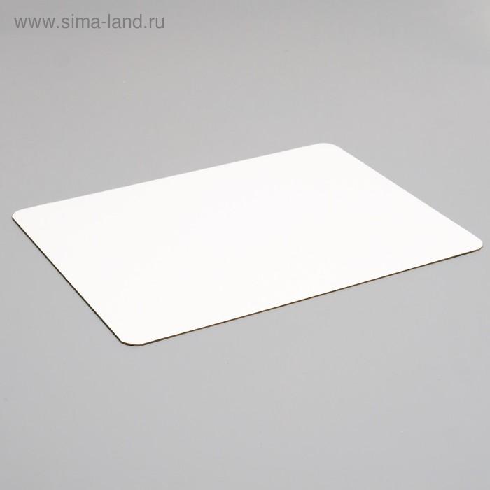 Подложка, золото - белый, 28 х 37 см, 1,5 мм