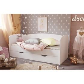 Кровать «Бейли», 700 × 1600 мм, с ортопедическим основанием, цвет белый Ош