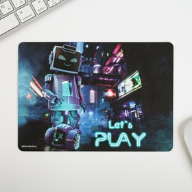 Коврик для мыши «Let's play», 21 × 15 см Ош