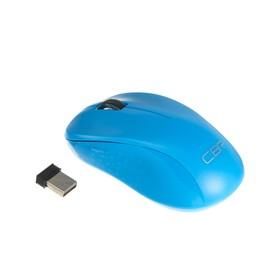 Мышь CBR CM 410, беспроводная, оптическая, 1000 dpi, USB, голубая