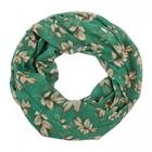 Палантин-труба женский текстильный, цвет зелёный, размер 68х90