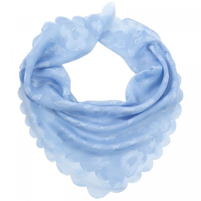 Платок женский текстильный, цвет голубой, размер 70х70