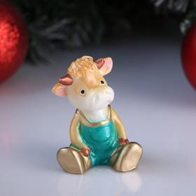 Свеча декоративная 'Бычок- малыш', микс, 6×4,5×7,5 см Ош