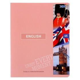 Тетрадь предметная 48 листов в клетку «Важные открытия. Английский язык», обложка мелованный картон, со справочными материалами