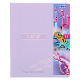 Тетрадь предметная 48 листов в клетку «Важные открытия. Химия», обложка мелованный картон, со справочными материалами