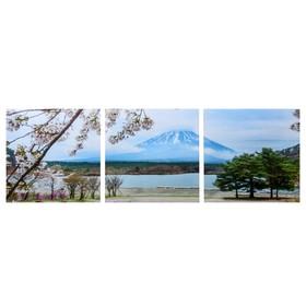 Модульная картина 'Фудзияма' (3-35х35) 35х105 см Ош