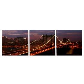 Модульная картина 'Золотой мост' (3-35х35) 35х105 см Ош