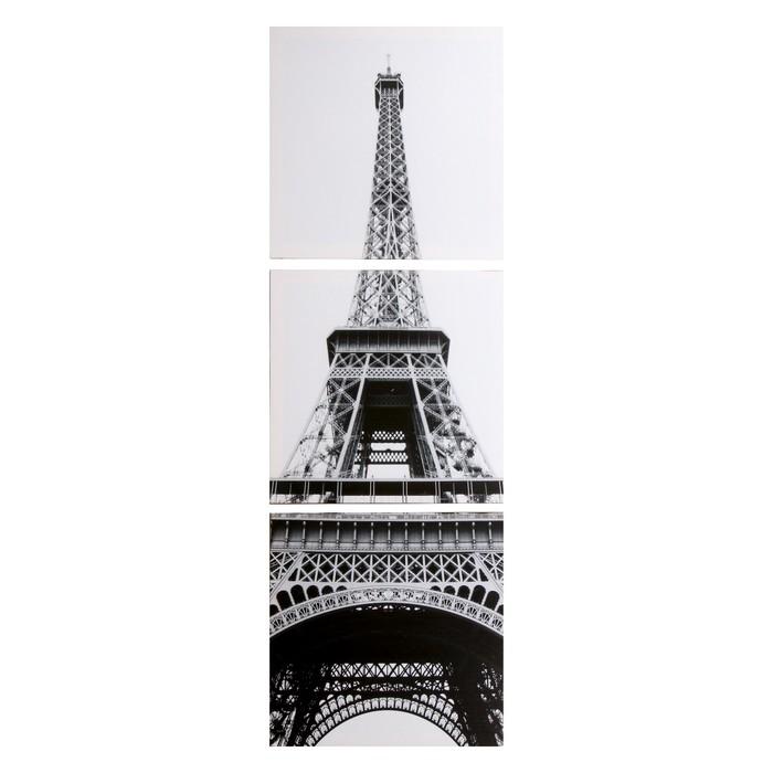 Модульная картина Эйфелева башня 3-35х35 35х105 см