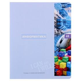 Тетрадь предметная 48 листов в клетку «Важные открытия. Информатика», обложка мелованный картон, со справочными материалами