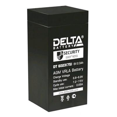 Аккумуляторная батарея Delta DT 6023 (75), 6 В, 2.3 А/ч