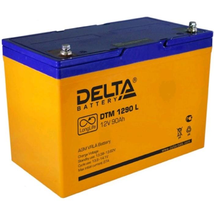 Аккумуляторная батарея Delta DTM 1290 L, 12 В, 90 А/ч