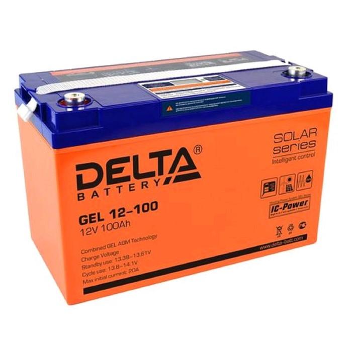 Аккумуляторная батарея Delta GEL 12-100, 12 В, 100 А/ч