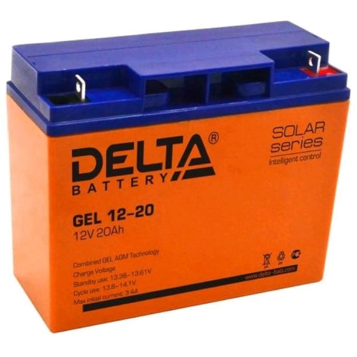 Аккумуляторная батарея Delta GEL 12-20, 12 В, 20 А/ч