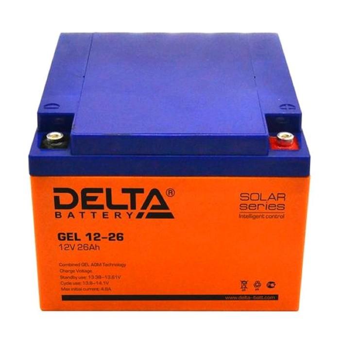 Аккумуляторная батарея Delta GEL 12-26, 12 В, 26 А/ч
