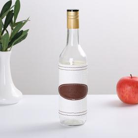 Бутылка Магарыч «Тара 3», 0,5 л чехол кожа/экокожа, колпачок, цвет белый