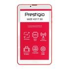 """Планшет Prestigio wize PMT4317 3G, 7"""", 1024х600, IPS, 1Гб, 16Гб, Android 8.1, 2Мп, красный"""