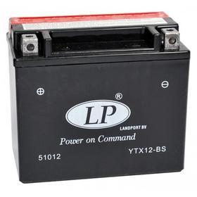 Аккумулятор Landport YTX12-BS, 12В, 10 Ач, прямая (+ -) Ош