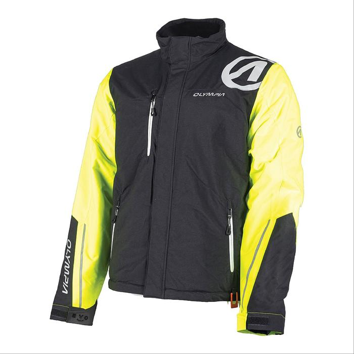 Мужская куртка JACKSON, чёрный, жёлтый, XL