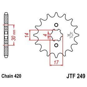 Звезда ведущая, JT 249.13, 13 зубьев Ош
