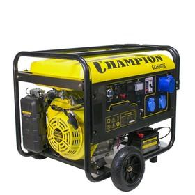 Генератор CHAMPION GG6501E+ATS, 16 л.с., 5.5 кВт, 3х220/12 В, 25 л, электростарт, счетчик