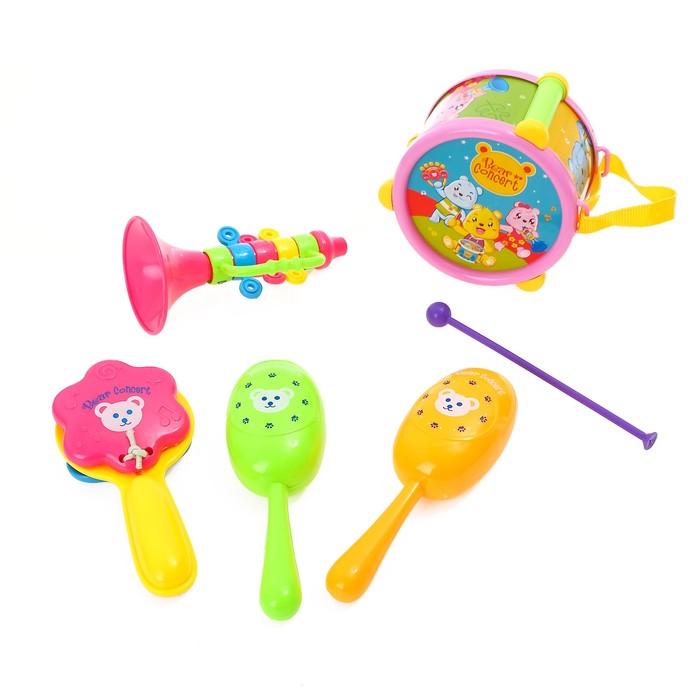 Набор музыкальных инструментов Мишки в оркестре, 6 предметов