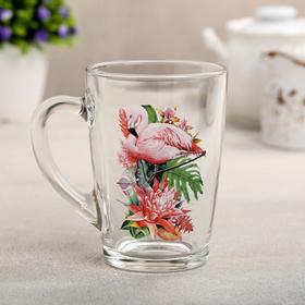 Кружка Декостек «Фламинго в тропиках», 300 мл