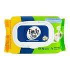 Влажная туалетная бумага Emily Style, растворяющаяся, с крышкой 72 шт
