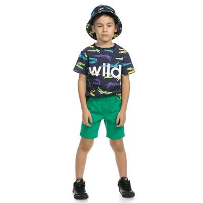 Шорты для мальчика, рост 116 см, цвет зелёный