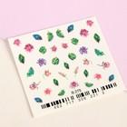 Слайдер-дизайн для ногтей «Тропики», разноцветный