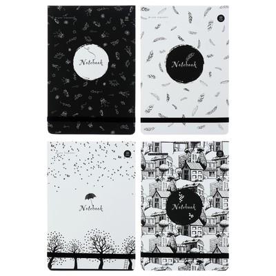 Блокнот А5, 100 листов, Megapolis Journal, вертикальный, на резинке, твёрдая обложка дизайнерский картонный блок 70 г/м2, бежевый, в точку - Фото 1