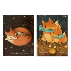 Блокнот А6, 160 листов, твёрдая обложка «Волшебный лис», глянцевая ламинация, блок 55 г/м2