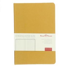 Ежедневник недатированный А6, 100 листов, Megapolis, твёрдая обложка, искусственная кожа, блок 70 г/м2, золотой Ош