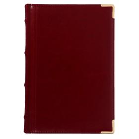 Ежедневник полудатированный А5+, 208 листов, Boss, твёрдая обложка, искусственная кожа, блок 80 г/м2, бордовый Ош