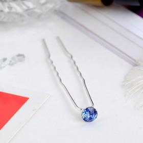 Шпилька для волос 'Хрусталик' 7 см, микс Ош