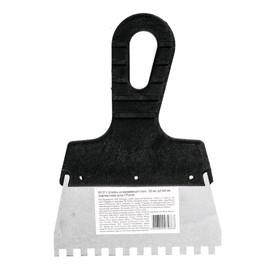 Шпатель зубчатый 85157, 150 мм, зуб 6х6 мм, нержавеющая сталь, ручка пластик