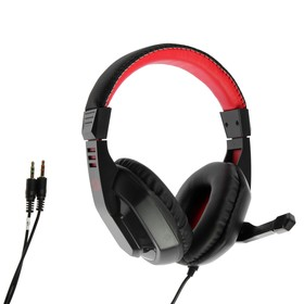 Наушники Redragon Ares, игровые, микрофон, 3.5 мм, 2 м, чёрно-красные