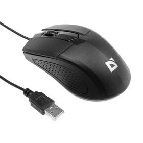 Мышь Defender Optimum MB-270, проводная, оптическая, 3 кнопки, 1000 dpi, чёрная