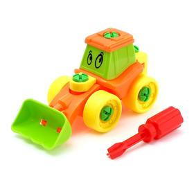 Конструктор для малышей «Трактор», 21 деталь, цвета МИКС Ош