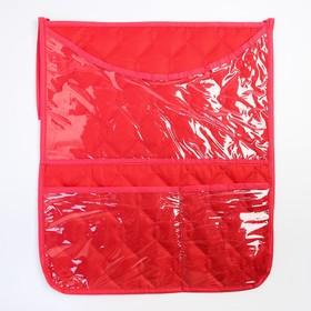 Органайзер на кроватку,размер 47*55,оксфорд,чтежка,цв.красный Ош