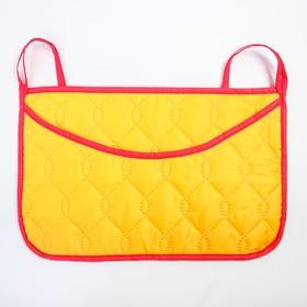 Органайзер на кроватку,размер 47*30,оксфорд,чтежка,цв.желтый Ош