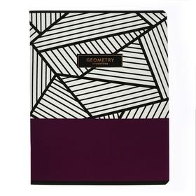 Тетрадь предметная Trendy graphic, 48 листов в клетку «Геометрия», обложка мелованный картон, ламинация Soft-touch, выборочный лак, со справочным материалом