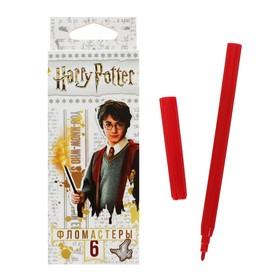 Фломастеры 6 цветов 'Гарри Поттер', картонная коробка, европодвес Ош