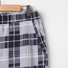 Костюм мужской «Влад» (футболка, шорты), цвет серый/клетка, размер 48 - Фото 5