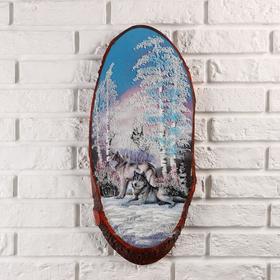 Панно на спиле 'Стая', 60 см, каменная крошка, вертикальное Ош