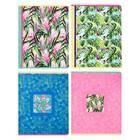 Тетрадь 96 листов в клетку, на скрепке Leaves, обложка мелованный картон, 4 вида, МИКС