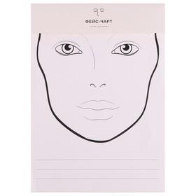 Трафарет для макияжа №1 21х34,7 Ош