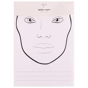 Трафарет для макияжа №3 21х34,7 Ош