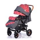 Прогулочная коляска с перекидной ручкой Sense Plus, цвет серый с красным - Фото 1